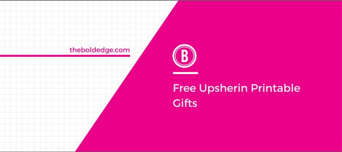 Free Upsherin Printable Gifts