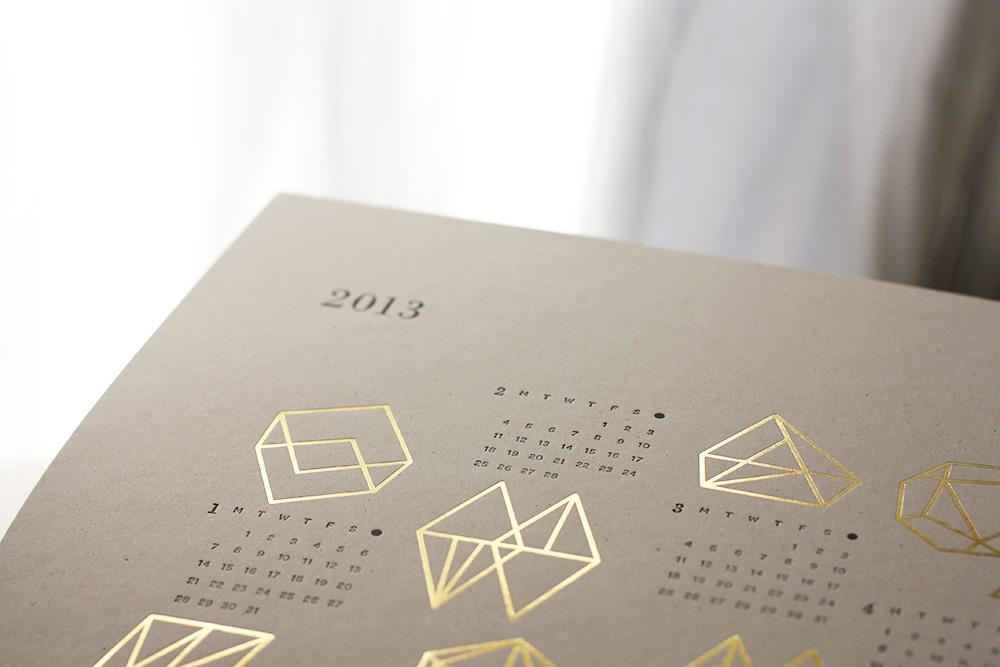 Julia-Kostreva-Gold-Foil-Letterpress-Calendar-detail
