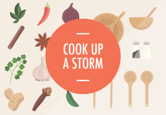 Free cooking vector set