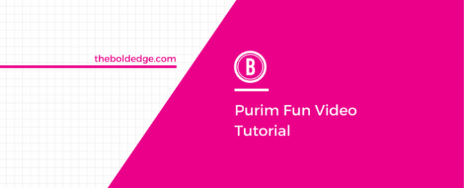 Purim Fun Video Tutorial